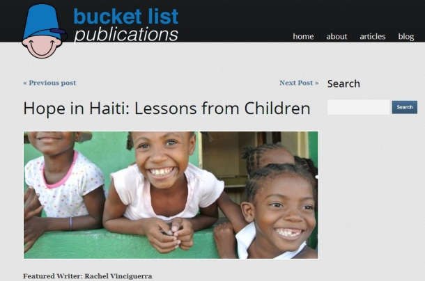 BucketList Publications: Hope in Haiti, Lessons from Children