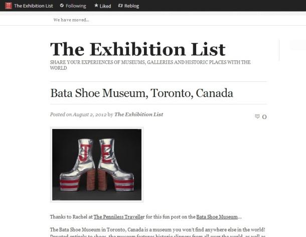 The Exhibition List: Bata Shoe Museum, Toronto Canada