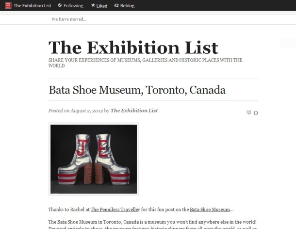 The Exhibition List: Bata Shoe Museum, Toronto Canada