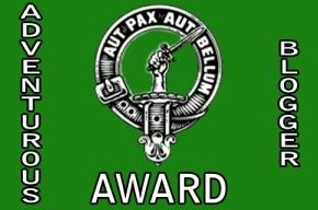 Adventurous Blogger Award!