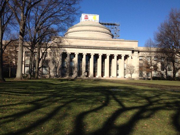 MIT Building 7. Probably the most famous building on campus...and is that a hack on top of it?