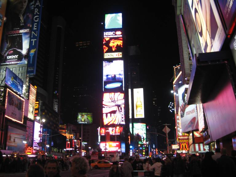 Time Square in NYC, 2008