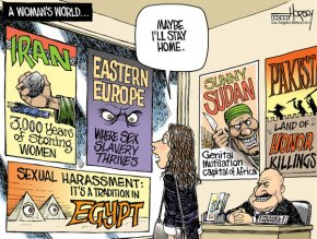 Drawn by David Horsey, LA Times. (http://www.latimes.com/news/politics/topoftheticket/la-na-tt-rape-of-american-20130605,0,3581418.story)