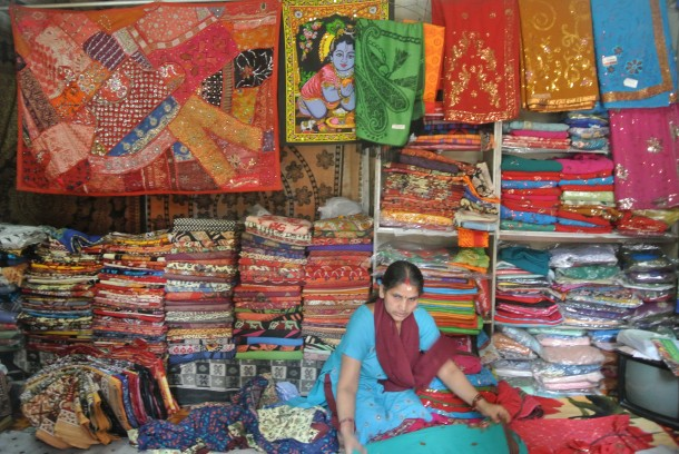 A sari shop we stopped in on our way to Old Durbar Square after our over 24-hours of plane travel.