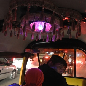 Evening Rickshaw Ride During Ganpati Festivities