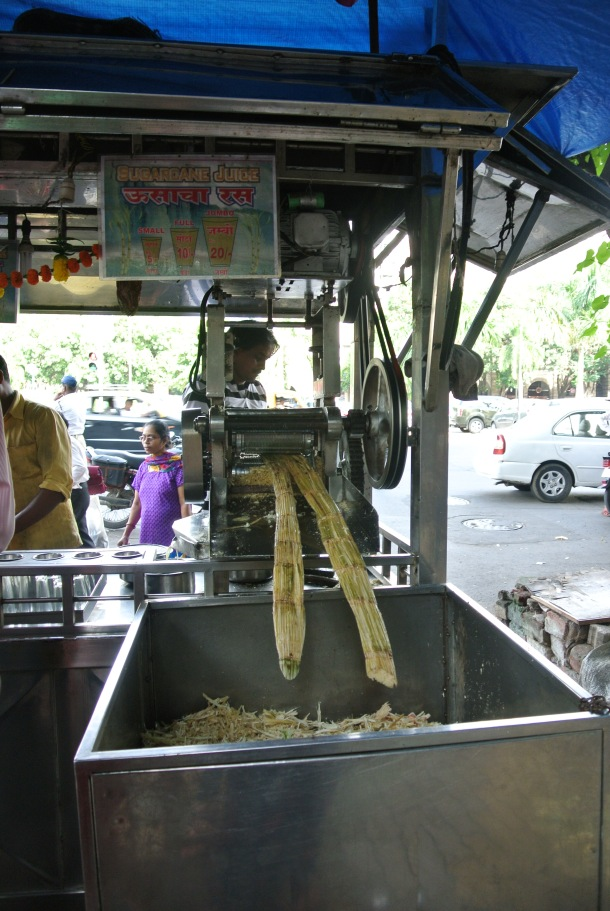 Fresh Sugar Cane Juice--a distinctly Indian drink.