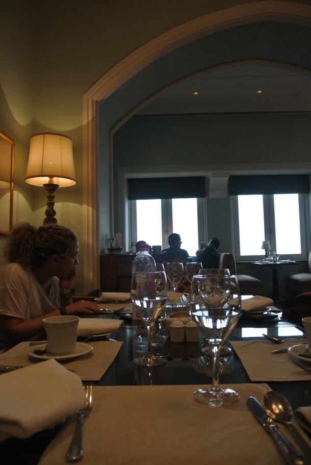 Inside the Taj Palace Hotel.