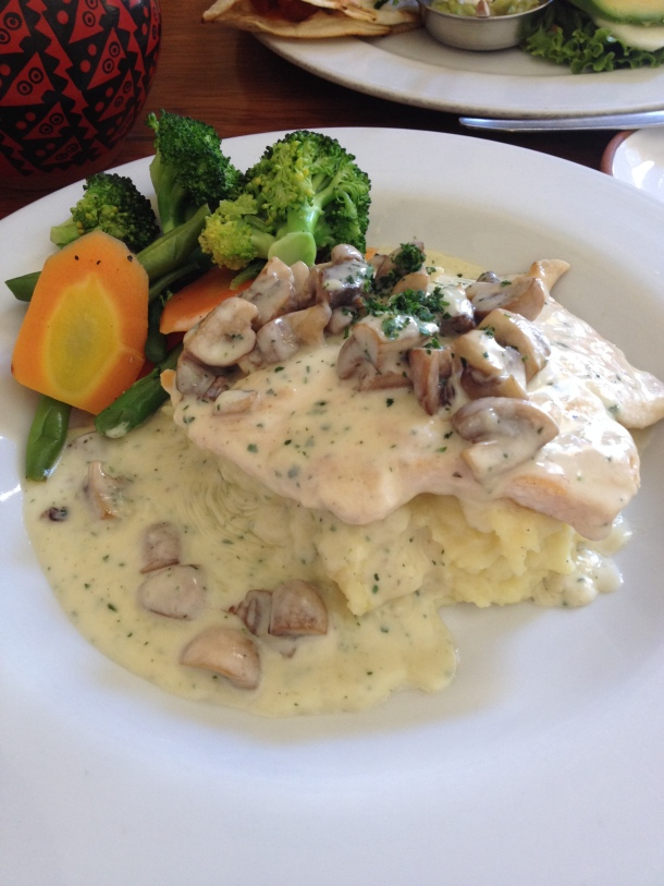 "Chicken with Mushroom Cream Sauce at ""Jacks"""